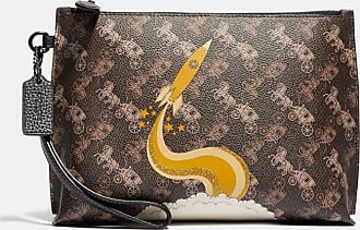 Coach Charlie Pouch With Horse And Carriage Print And Rocket in Brown/Multi