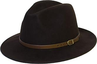 Hat To Socks Wool Fedora Felt Trilby Hat (58 cm, Dark Brown)