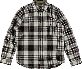 Filson Rustic Oxford Shirt Cream Dark Brown - XL / Cream Dark Brown