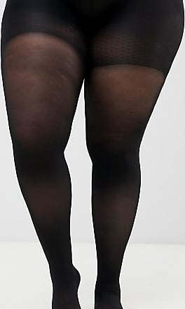 e9e86142402 Asos Curve ASOS DESIGN Curve 60 denier tights with bum tum and thigh  support - Black