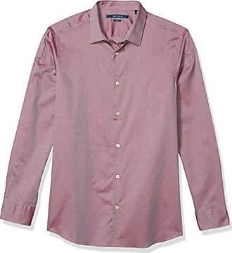 Perry Ellis Mens Mini Diamond Printed Resist Spill Stretch Shirt