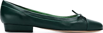 Sarah Chofakian bow detail ballerinas - Di colore verde