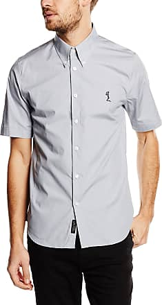 Religion Mens Otto Casual Shirt, Grey (Grey Chambray), Large