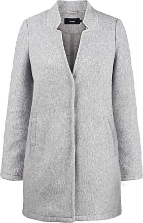 Vero Moda Mania Womens Woll Coat Outdoor Jacket, Size:XL, Colour:Light Grey Melange
