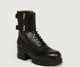 Robert Clergerie Schwarze Calfskin Commando Loop Willy 2 Stiefel - black   calfskin   40 - Black/Black