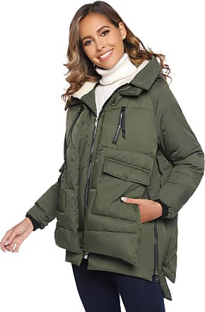 Abollria Womens Parkas Coats Hooded Warm Winter Quilted Outwear Jacket Coat