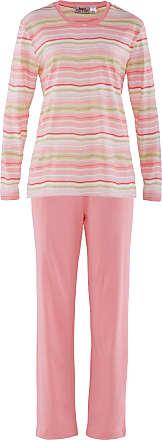 Avena Damen Klimasoft-Schlafanzug Balance Rot gestreift Gr. 36/38, 40/42, 44/46, 48/50, 52/54
