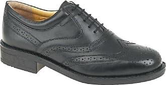 Roamers Mens brogue oxford shoe - Black - size UK Mens Size 12