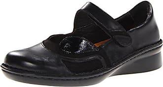 Naot Naot Womens Conga Flat, Black Madras Leather/Black Velvet Nubuck/Black Patent Leather, 35 EU/4.5-5 M US