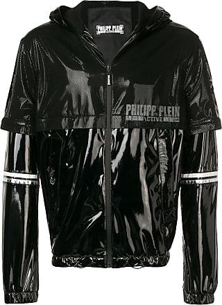 Philipp Plein mesh panel sports jacket - Black