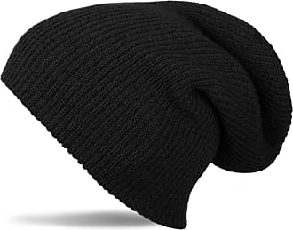 styleBREAKER Beanie, Slouch, Long Knitted hat, Double Knitted 04024004, Color:Black