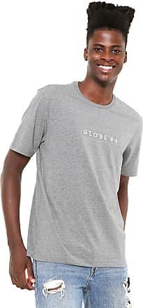Globe Camiseta Globe Logo Cinza
