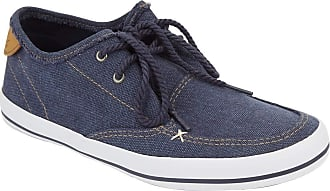 Weird Fish Harrison Canvas Lace Up Shoe Navy Size 10