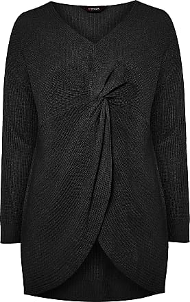 Yours Clothing Womens Plus Size Twist Knitted Jumper