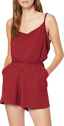 Urban Classics Womens Ladies Short Spaghetti Jumpsuit, Red (Burgundy 606), XL