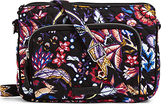 Vera Bradley Womens Iconic RFID Little Hipster, Signature Cotton Cross Body, Foxwood, One Size
