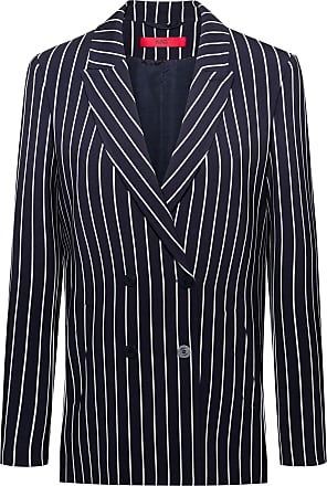 fa34d740 HUGO BOSS Regular-fit double-breasted jacket in striped fabric