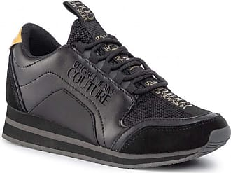 Versace Womens Trainers, Black and Gold Black Size: 7 UK