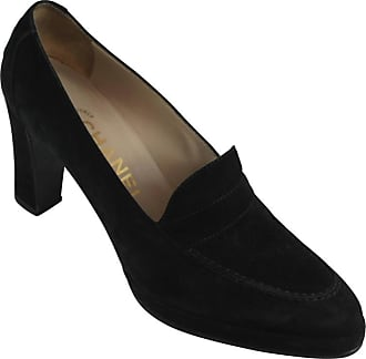 bed86bbdf51 Chanel Black Suede Loafer Style Pumps - 36.5