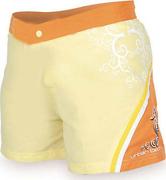 Urban Beach Ladies Orange Surf Board Shorts, Summer Swim Casual Wear, 8-16