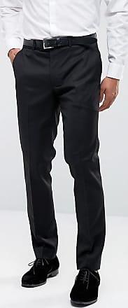 Farah Farah Skinny Tuxedo Suit Trousers-Black