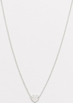 Kingsley Ryan choker necklace in sterling silver with heart pendant