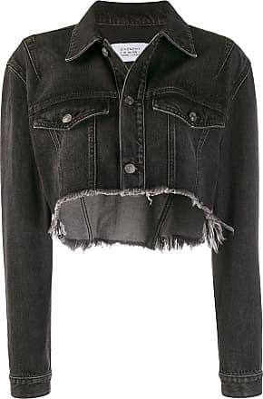 Givenchy Jaqueta jeans cropped - Preto