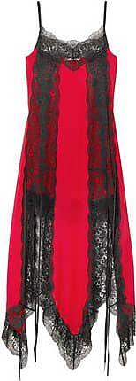 9598661f6ef0 Christopher Kane Christopher Kane Woman Lace-trimmed Silk-chiffon Dress Red  Size 44
