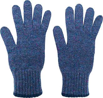 Pringle Of Scotland Par de luvas texturizadas de cashmere - Azul