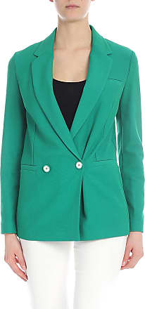 Pinko Orsola jacket in leno weave green