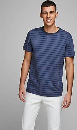 Jack & Jones Gestreiftes T-Shirt mit Rundhalsausschnitt - Denim blue