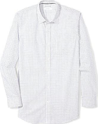Essentials Camicia Uomo Slim-fit Wrinkle-resistant Long-sleeve Stripe Dress Shirt