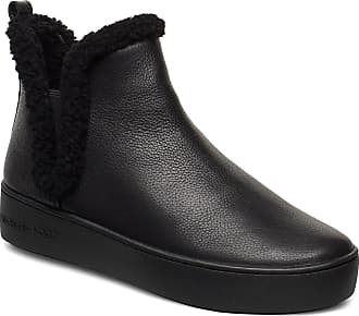 Michael Kors Ashlyn Slip On Shoes Boots Ankle Boots Ankle Boots Flat Heel Svart Michael Kors Shoes