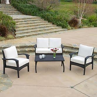 BEST SELLING HOME Outdoor Franzia Wicker 4 Piece Patio Conversation Set Brown / Beige - 235788