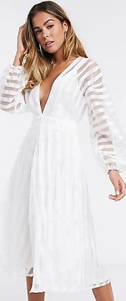 Missguided Organza midi-jurk in wit