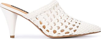 Veronica Beard crochet design mules - White