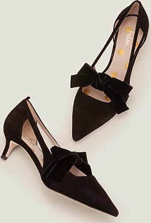 black velvet kitten heels