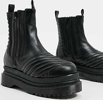 Jeffrey Campbell Rugged - Flache, robuste Ankle-Boots in Schwarz