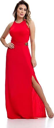Clara Arruda Vestido Clara Arruda Longo Fivela 50300 - M - Vermelho