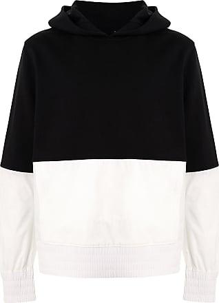 Blackbarrett Moletom de algodão color block com capuz - Preto