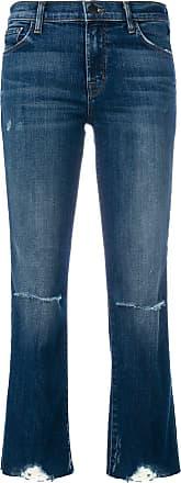 J Brand cropped distressed jeans - Di colore blu