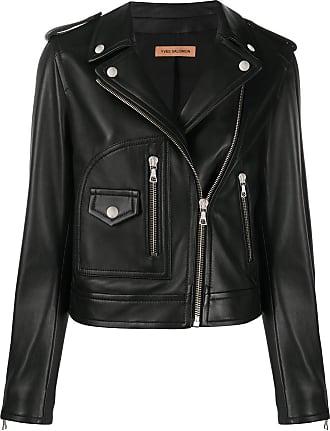 Yves Salomon zip-up biker jaacket - Black