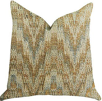 Plutus Brands Designer Ripple Double Sided Luxury Throw Pillow 22 x 22 Brown/Blue/Beige