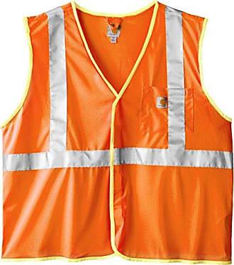 Carhartt Work in Progress Mens Big & Tall High Visibility Class 2 Vest,Brite Orange,XXXX-Large