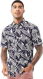 Only & Sons slim fit short sleeve shirt with all over tropic print