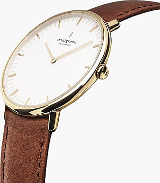 Nordgreen Native - Gold | Brown Leather - 36mm / Gold