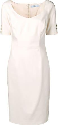 Blumarine Vestido com aplicações - Neutro