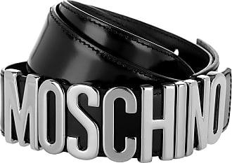 957cbfa6374ca Moschino Logo Belt Patent Leather Black Gürtel schwarz