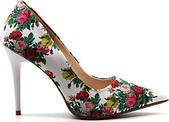 0d720813c Royalz Scarpin Royalz Tecido Penélope Roses Branco