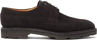 John Lobb Croft Suede Derby Shoes - Mens - Black